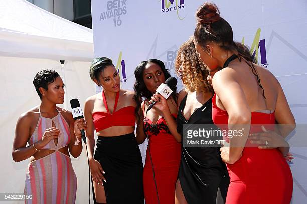 Internet personality Shameless Maya and recording artists Gabby Carreiro, Ashly Williams, Brienna DeVlugt, Shyann Roberts and Kristal Lyndriette of...