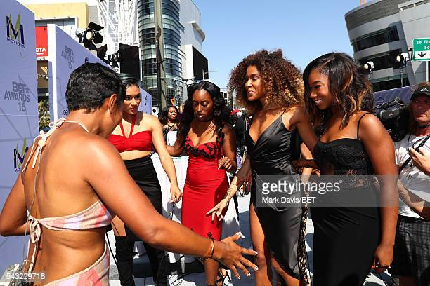 Internet personality Shameless Maya and recording artists Gabby Carreiro, Ashly Williams, Brienna DeVlugt, and Shyann Roberts of music group June's...