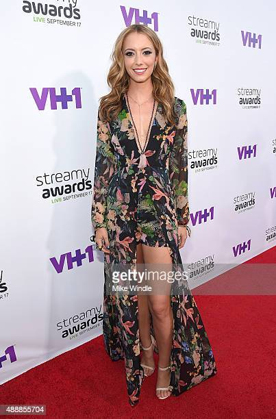 Internet personality Taryn Southern attends VH1's 5th Annual Streamy Awards at the Hollywood Palladium on Thursday September 17 2015 in Los Angeles...
