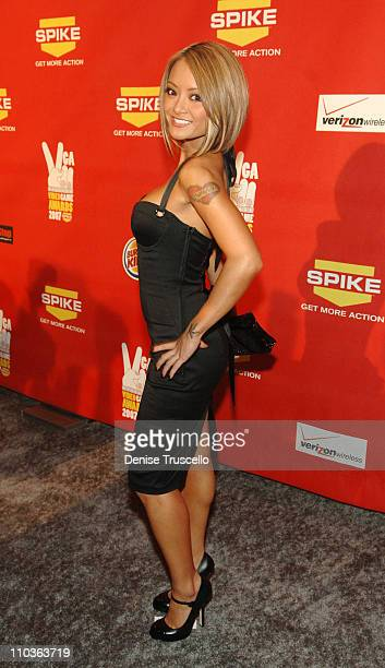 Internet personality Tila Tequila arrives at Spike TV's 2007 'Video Game Awards' at the Mandalay Bay Events Center on December 7 2007 in Las Vegas...