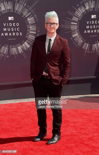 Internet personality Tyler Oakley attends the 2014 MTV Video Music Awards at The Forum on August 24 2014 in Inglewood California