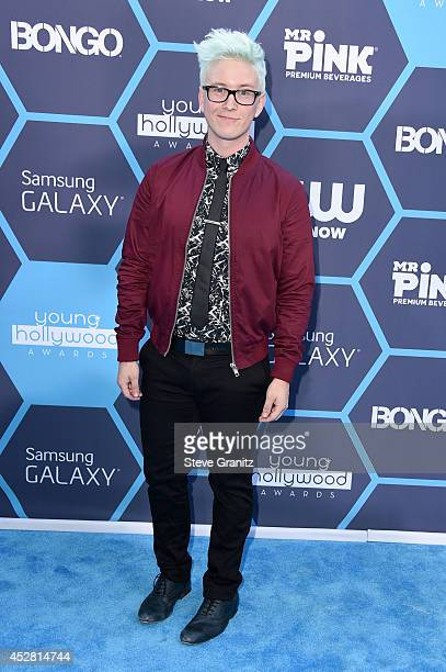 Internet personality Tyler Oakley attends the 2014 Young Hollywood Awards brought to you by Samsung Galaxy at The Wiltern on July 27, 2014 in Los...