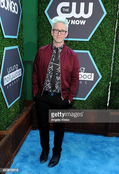 Internet Personality Tyler Oakley attends the 2014 Young Hollywood Awards brought to you by Samsung Galaxy at The Wiltern on July 27 2014 in Los...
