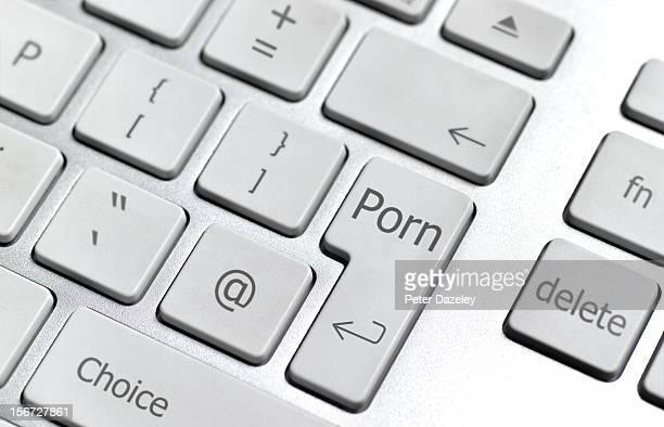 Internet porn computer keyboard