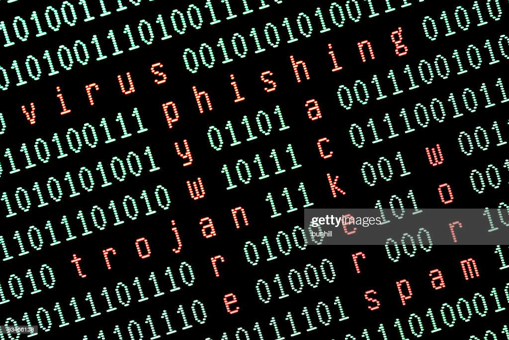 internet safety - security warnings concept : Stock Photo