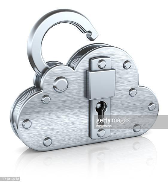 Internet security cloud padlock concept