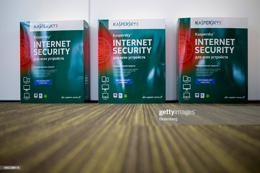 Internet security software products sit at the headquarters of Kaspersky Lab, a cyber-security firm, in Moscow, Russia, on Tuesday, Dec. 9, 2014. 'Hackers have become capable of carrying out very advanced attacks,' Kaspersky said. Photographer: Alexander Zemlianichenko Jr./Bloomberg via Getty Images