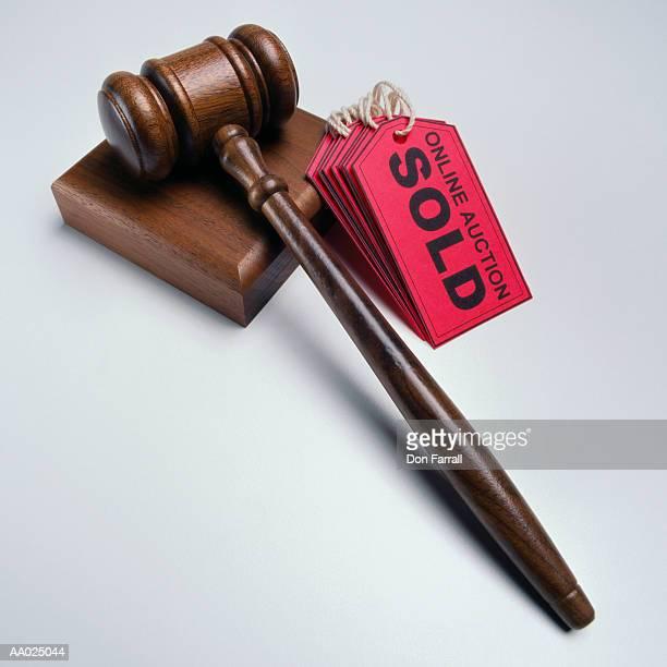 Internet Sold Sign Labels and a Gavel