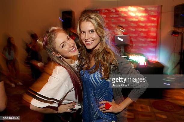 Internet star Charity Vance and host Andrea Feczko postINTOUR festivities at INTOUR 2014 after party presented by Taco Bell Fullscreens INTOUR at...