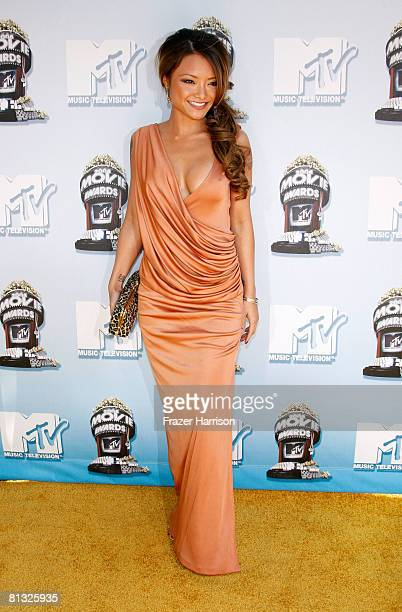 Internet/TV personality Tila Tequila arrives at the 17th annual MTV Movie Awards held at the Gibson Amphitheatre on June 1 2008 in Universal City...