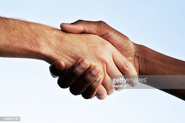 interracial handshake #2 - black civil rights stock pictures, royalty-free photos & images