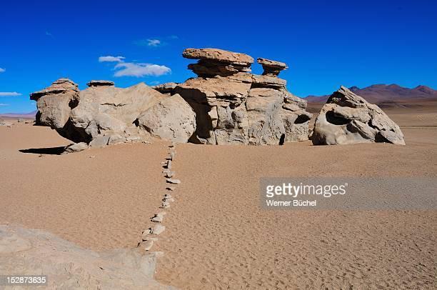 Interresting rock formation near Uyuni - Bolivia