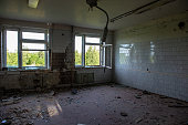 interrior old military building latvia abandoned