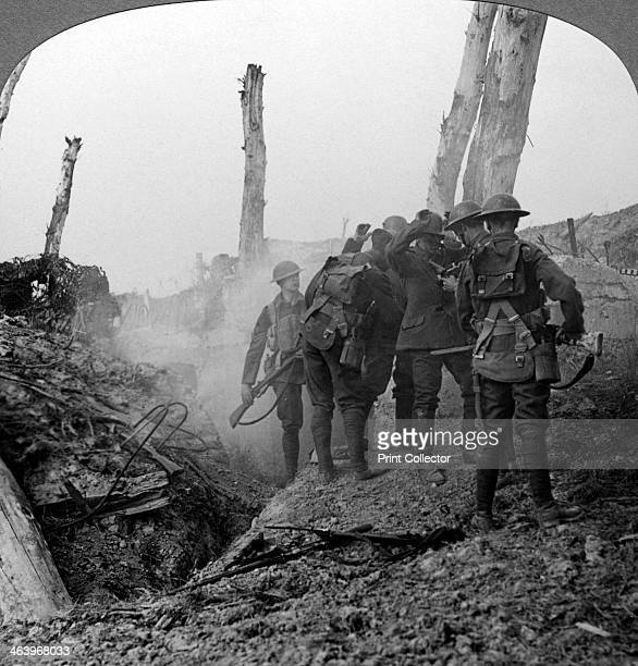 Interrogating a German soldier Hohenzollern Redoubt France World War I 19141918 The Hohenzollern Redoubt was a fortified German position that was the...