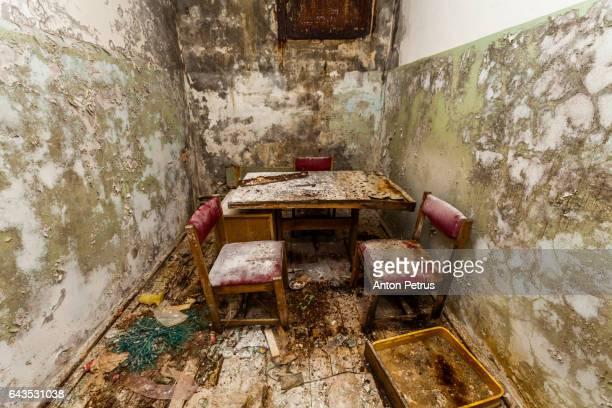 Interrogation room at the police station. Prypiat, Ukraine