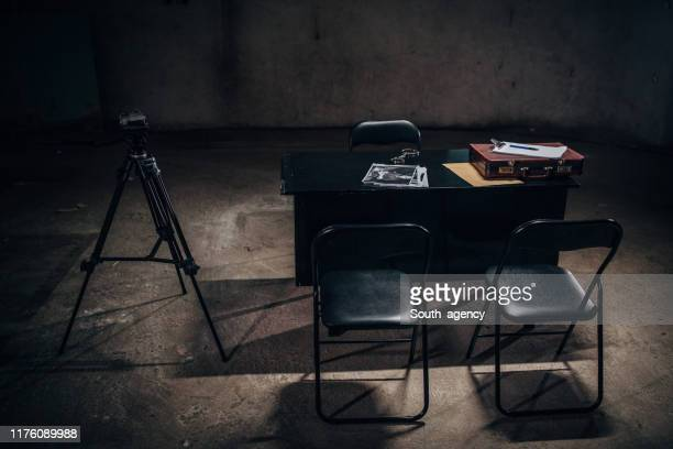 interrogation room - criminal investigation stock pictures, royalty-free photos & images