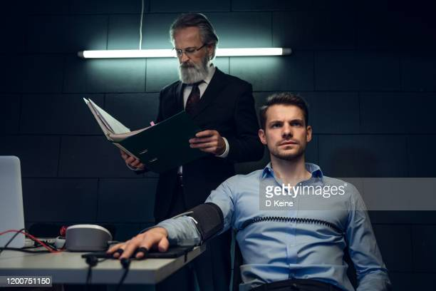 interrogation room - privateinvestigator stock pictures, royalty-free photos & images
