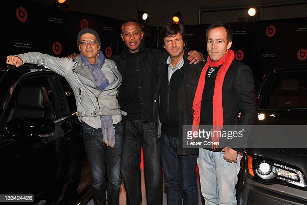 Interscope chairman Jimmy Iovine Producer/ recording artist Dr Dre Head of Fiat Brand Chief Marketing Officer Olivier Francois and President and COO...
