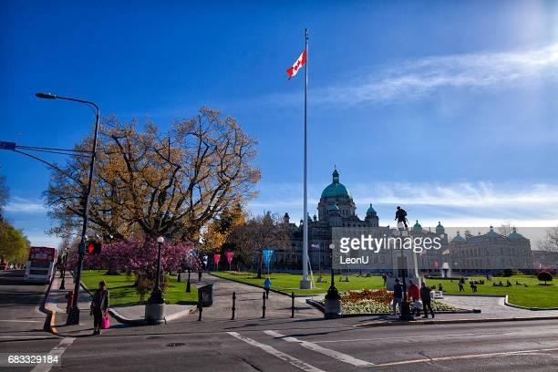 Kreuzung vor Parlamentsgebäude, Victoria, BC, Kanada