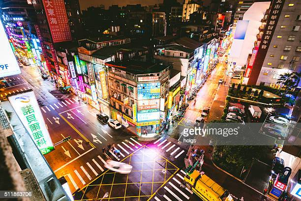 Intersection in Taipei, Taiwan