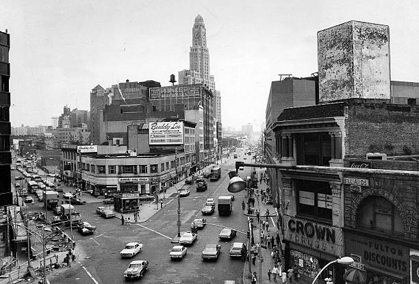 Intersection of Fulton St. and Flatbush Ave. in Brooklyn.