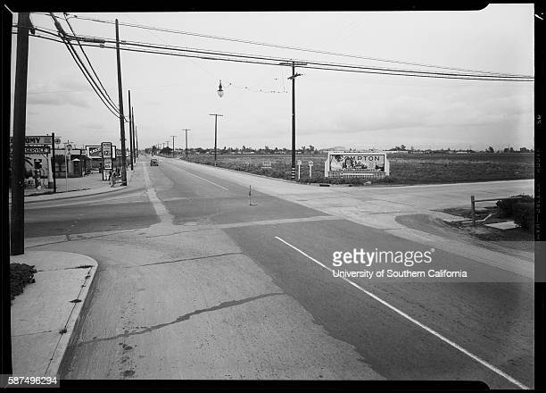 Intersection of North Wilmington Avenue and West Compton Boulevard, Compton, CA, 1940.