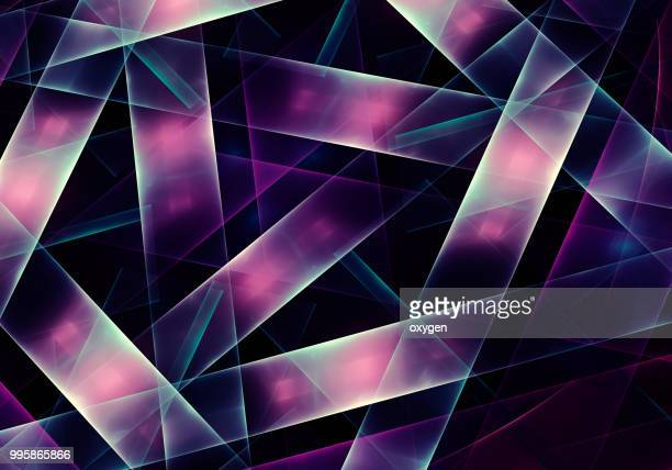 intersection of pink lines on three levels - road junction stock pictures, royalty-free photos & images