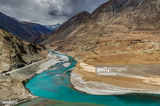 Intersection of Zanskar and Indus rivers