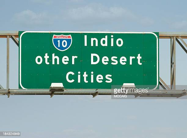 interstate 10 - indio california stock pictures, royalty-free photos & images