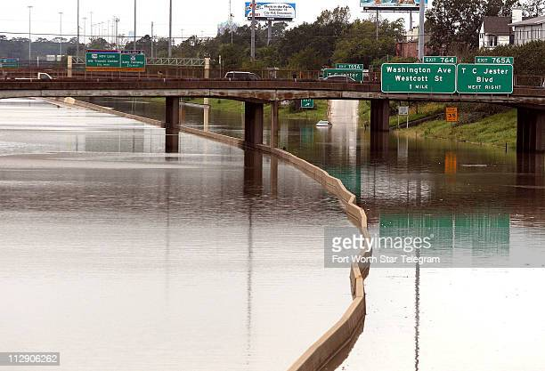 Interstate 10 the Katy freeway on the west side of Houston Texas was flooded due after Hurricane Ike passed over the Texas coast Sunday September 14...