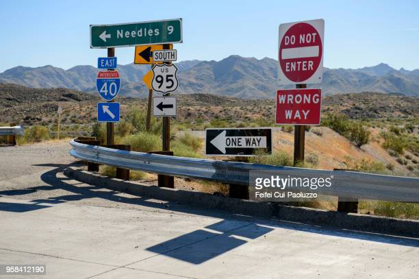 interstate 40 in california, near needles, usa - american culture stock pictures, royalty-free photos & images