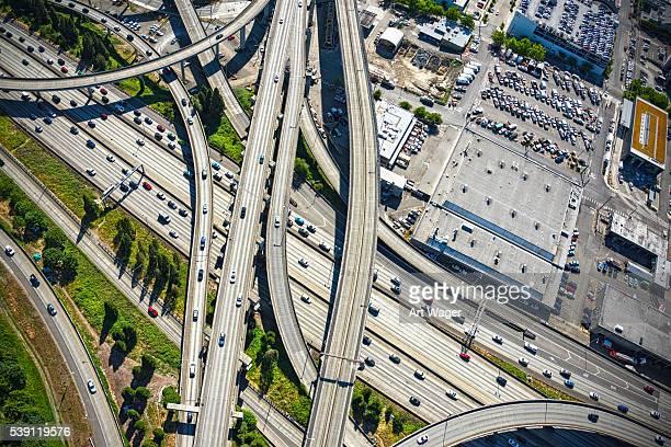 Interstate 5 Freeway Interchange Seattle Washington