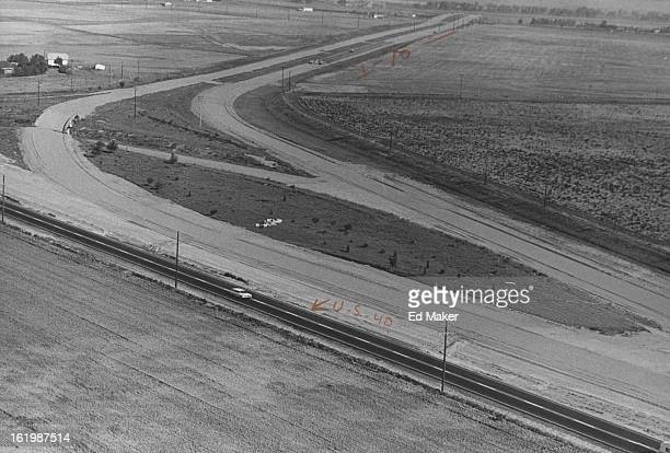 JUL 6 1965 781965 Interstate 70 where it meets Rd 40 40 is Blocktop 70 is curve to top of pic