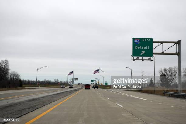 Interstate 94 at Michigan City, Indiana, United States