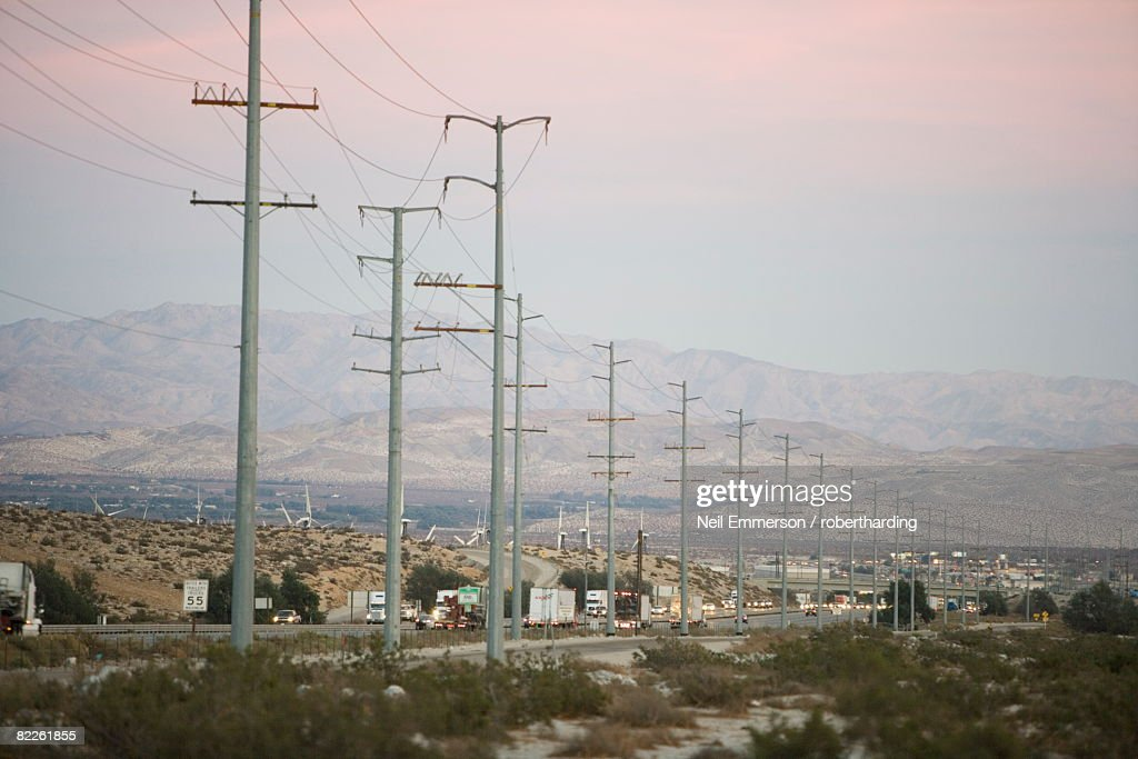 Interstate, Palm Springs, California, United States of America, North America : Stock Photo
