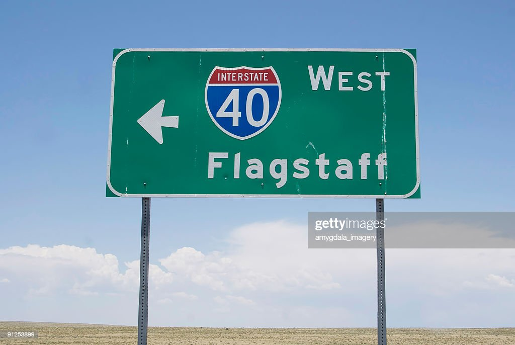 interstate road sign : Stock Photo