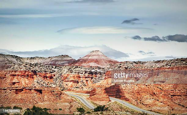 i-70 interstate split between red rock canyon - orem utah stock pictures, royalty-free photos & images