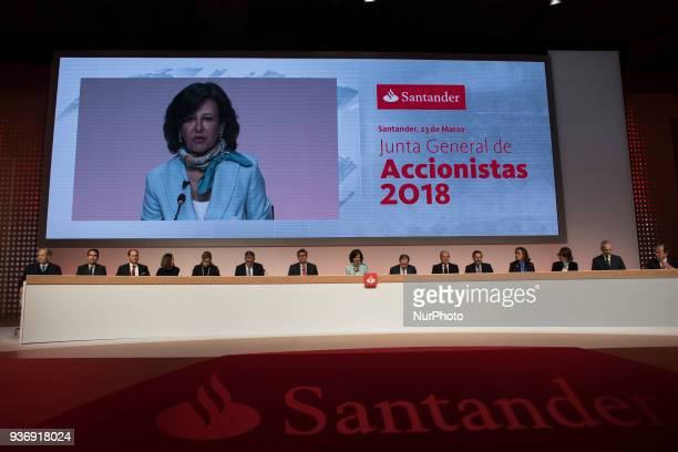 Intervention of the Group executive chairman of Banco Santander Ana Botinn during the annual general meeting of shareholders of Banco de Santander in...