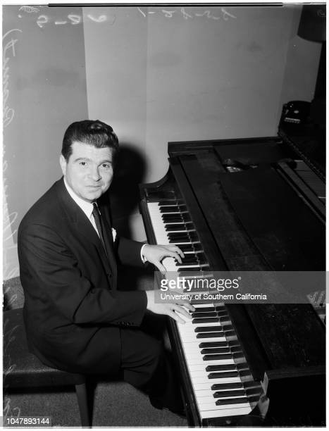 Intervies 28 January 1958 Emil Gilels Caption slip reads 'Photographer Paegel Date Reporter Massard Assignment Interview 49 27 28 Emil Gilels Russian...