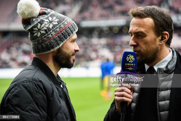 Interview of Christophe Jallet of Nice by Bein Sports during the Ligue 1 match between OGC Nice and Paris Saint Germain at Allianz Riviera on March...