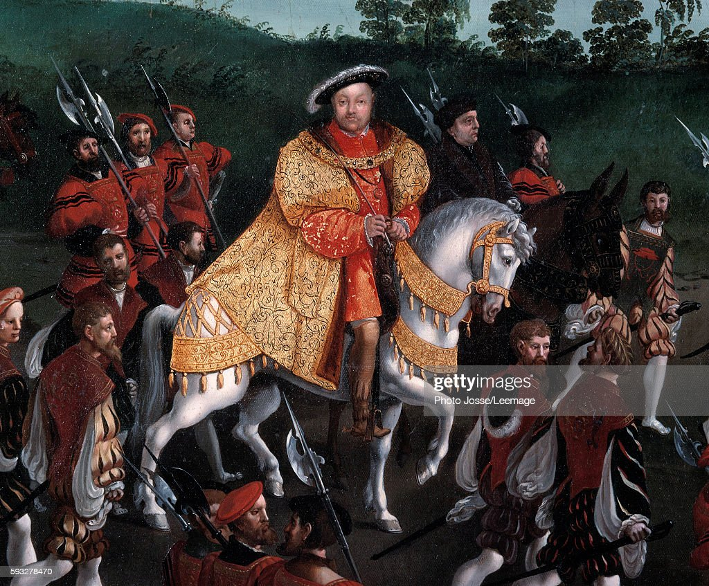 Interview of Francois I and Henry VIII at the Field of the Cloth by Friedrich Bouterwerk : News Photo