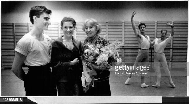 Interview the retired Primaballerina Galina Ulanova here in Australia at the Opera House after watching a class for the Australian BalletL to R David...
