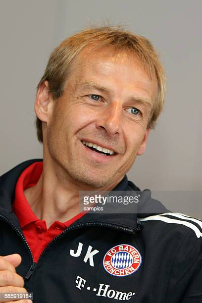 Interview with Bayern Munich manager / coach / trainer / Juergen Klinsmann in Munich Germany