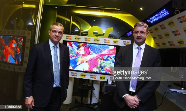 Interview with CSL's Chief Technology Officer Christian Daigneault and Chief Executive Officer Phil Mottram posing with a 4k resolution video using...
