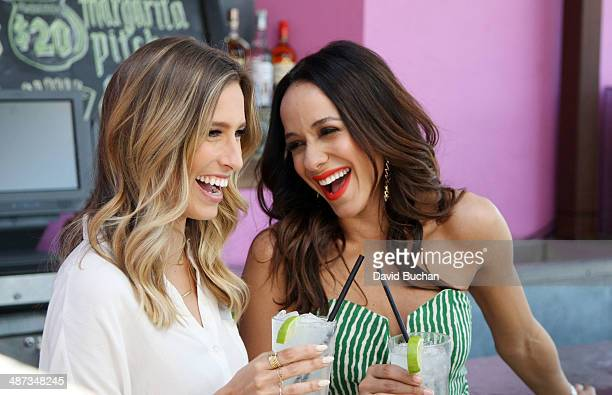 Interview with Dania Ramirez and Extra host Renee Bargh at Westfield Century City at Westfield Century City on April 29 2014 in Los Angeles California