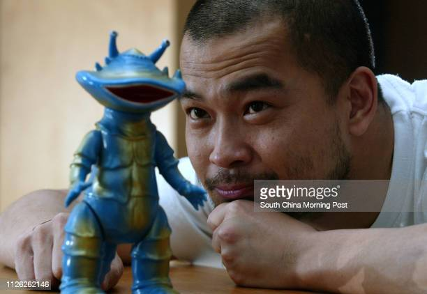 Interview with disc jockey and actor Eric Kot Man-fai who has the largest collection of Ultraman toys in Hong Kong. 10 April 2003