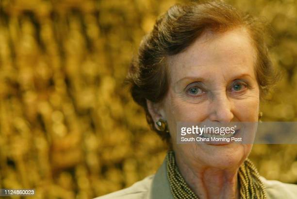 Interview with June DallyWatkins former model Gregory Peck's lover and leading charity fundraiser at Mandarin Oriental Hotel Central 14 September 2004