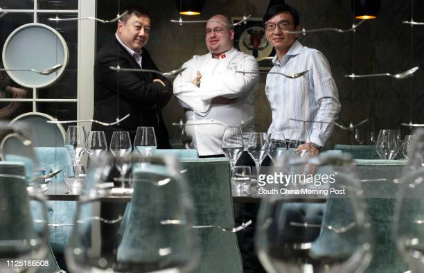 Interview with Mirror Restaurant Executive Director Clifford Chan Executive Director and Chef Jeremy Biasiol and Restaurateur David Sung Pictured at...