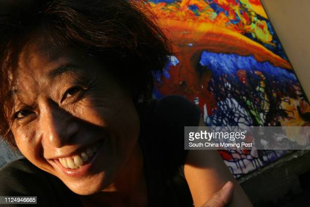 Interview with painter Linda Liao at her studio in Wan Chai 12 July 2006