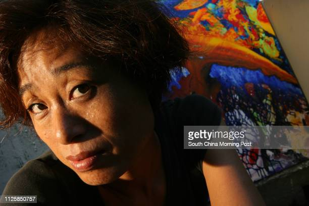 Interview with painter Linda Liao for Hong Kong Faces at her studio in Wan Chai 12 July 2006